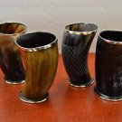 "(27.01) Horn Game of Throne Medieval Drinking Cup Mug 6"" Assorted set of 4"