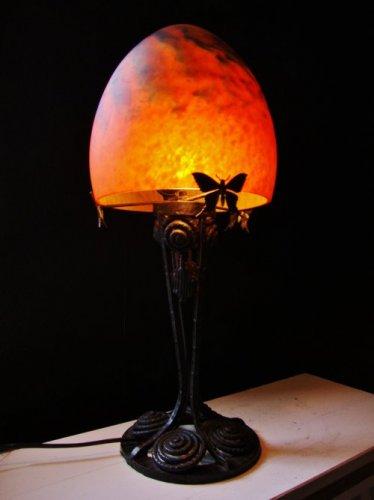Art Nouveau Mushroom Lamp France