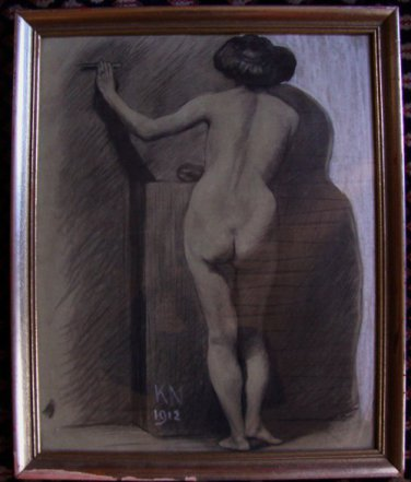Art Nouveau Drawing Kai Nielsen Denmark