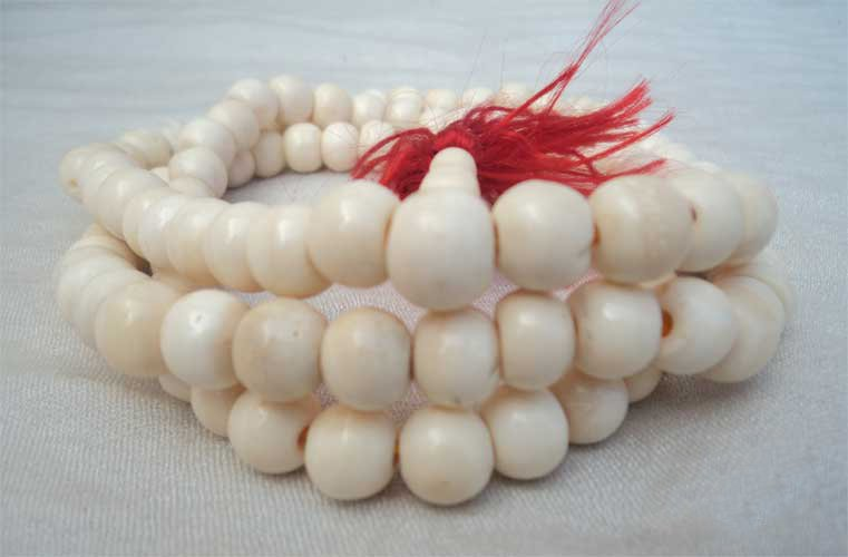 Plain White Bone Meditation Mala ,NEPAL