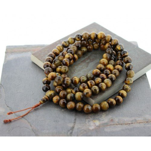 Tibetan Tiger Eye Meditation  Mala,NEPAL