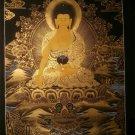 """Shakya Muni Buddha Handpainted Thangka Painting(16""""x22"""""""