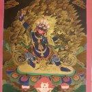 "Bajra Pani Handpainted Thangka Painting(18""x24"")"