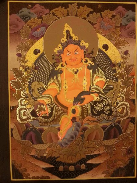 "Zambala Handpainte�d Thangka Painting(15""x20"")"