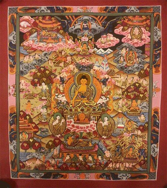 "Buddha Life Handpainte�d Thangka Painting(11""x15"")"