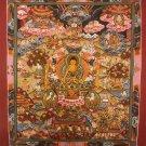 """Buddha Life Handpainted Thangka Painting(11""""x15"""")"""
