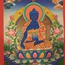 """Medicine Buddha Handpainted Thangka Painting(11""""x15"""")"""
