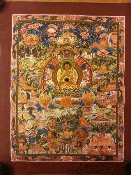 "Buddha Life Handpainte�d Thangka Painting(11""x15"")-II"