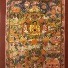 """Buddha Life Handpainted Thangka Painting(11""""x15"""")-II"""