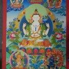 """Abalokiteshwora Handpainted Thangka Painting(20""""x30"""")"""