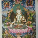 "White Tara Handpainte​d Thangka Painting(16""x22"")-II"