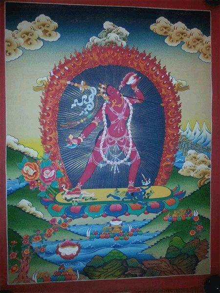 "Yogini Handpainte�d Thangka Painting(18""x24"")"