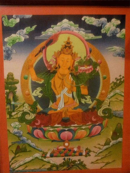 "Manjushree Handpainte�d Thangka Painting(18""x24"")"
