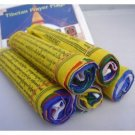5 Roll of Five Colors Tibetan Prayer Flag Cotton, M,NEPAL