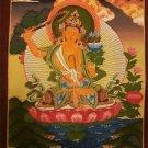 "ManjuShree Handpainted Thangka Painting(11""x15"")"
