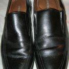Johnston Murphy black leather dress loafers 8.5 D EC