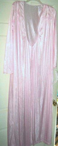 VTG Gilead pink long robe S NWT