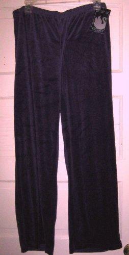 Gloria Vanderbilt purple velvet lounge pant PXL NWT $40