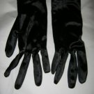 Finale black Satin Lovers stretch nylon wrist gloves Ladies One size fits most