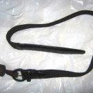 "VTG Swank black stretch woven cord belt sz 32 x 1.25"" wide NWT leather tabs USA"