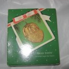 Hallmark 1983 Brass metal Santa head Ornament w/box & price tag NOS Hong Kong