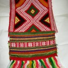 "Hand made woven textile fringe long scarf NWOT 54"" x 9"" made in Vietnam"