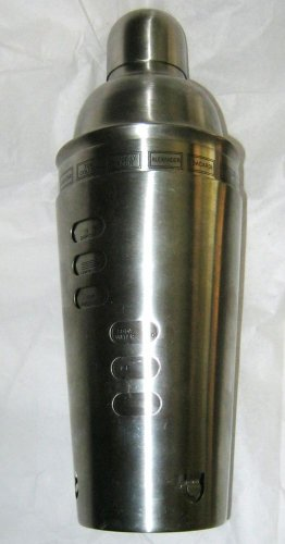 Dial A Drink recipe Silver Stainless Cocktail Shaker