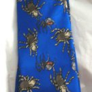 Preppie by J B blue silk spider boys neck tie MINT USA