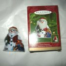 Hallmark 2000 Cool Charactor pressed tin Snowman Ornament w/box