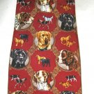 "Eagle Neckwear burgundy Swirl Hunt Dog 100% silk 4"" blade tie NWT Jon Q Wright"