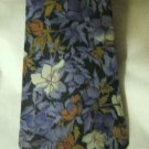 "Vtg Pierre Cardin blue purple brown floral  silk 4"" blade tie"