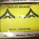 USMC Marine black metal Chevrons in box serial # 3-78 NOS Officers Equipment Co