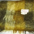 "VTG Bloomingdales green gray plaid Mohair Wool long scarf  44"" x 9"" England"