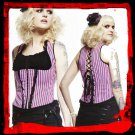 Black & Pink Stripes Top Corset