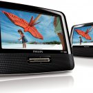 "7"" Philips PD7012/37 Widescreen Portable DVD Player with Dual Screens"