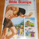Vintage Unused Golden Book of Bible Stamps 1976 by Golden Press