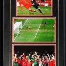 Team Spain 2010 World Cup Charles Iniesta Goal 3 photo frame
