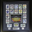 Toronto Blue Jays 2013 Topps Card Collection frame signed by Brett Lawrie