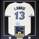 Brett Lawrie Toronto Blue Jays signed jersey frame