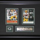 Aaron Rodgers Green Bay Packers 2 card frame