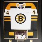 Bobby Orr Boston Bruins signed white jersey frame