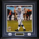 Peyton Manning Indianapolis Colts Signed 16x20 frame