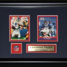 Lawrence Taylor New York Giants 2 card frame