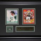 Joe Namath New York Jets 2 Card Frame