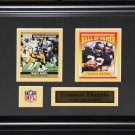 Franco Harris Pittsburgh Steelers 2 card frame