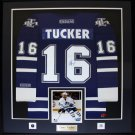 Darcy Tucker Toronto Maple Leafs signed jersey frame