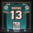 Dan Marino Miami Dolphins signed jersey frame