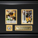 Ben Roethlisberger Pittsburgh Steelers 2 Card Frame