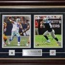 Tony Romo Dallas Cowboys Signed 2 Photo Frame