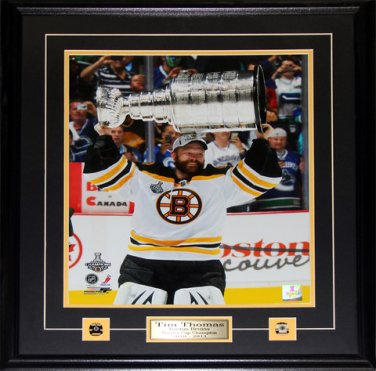 Tim Thomas Boston Bruins Stanley Cup 16x20 frame